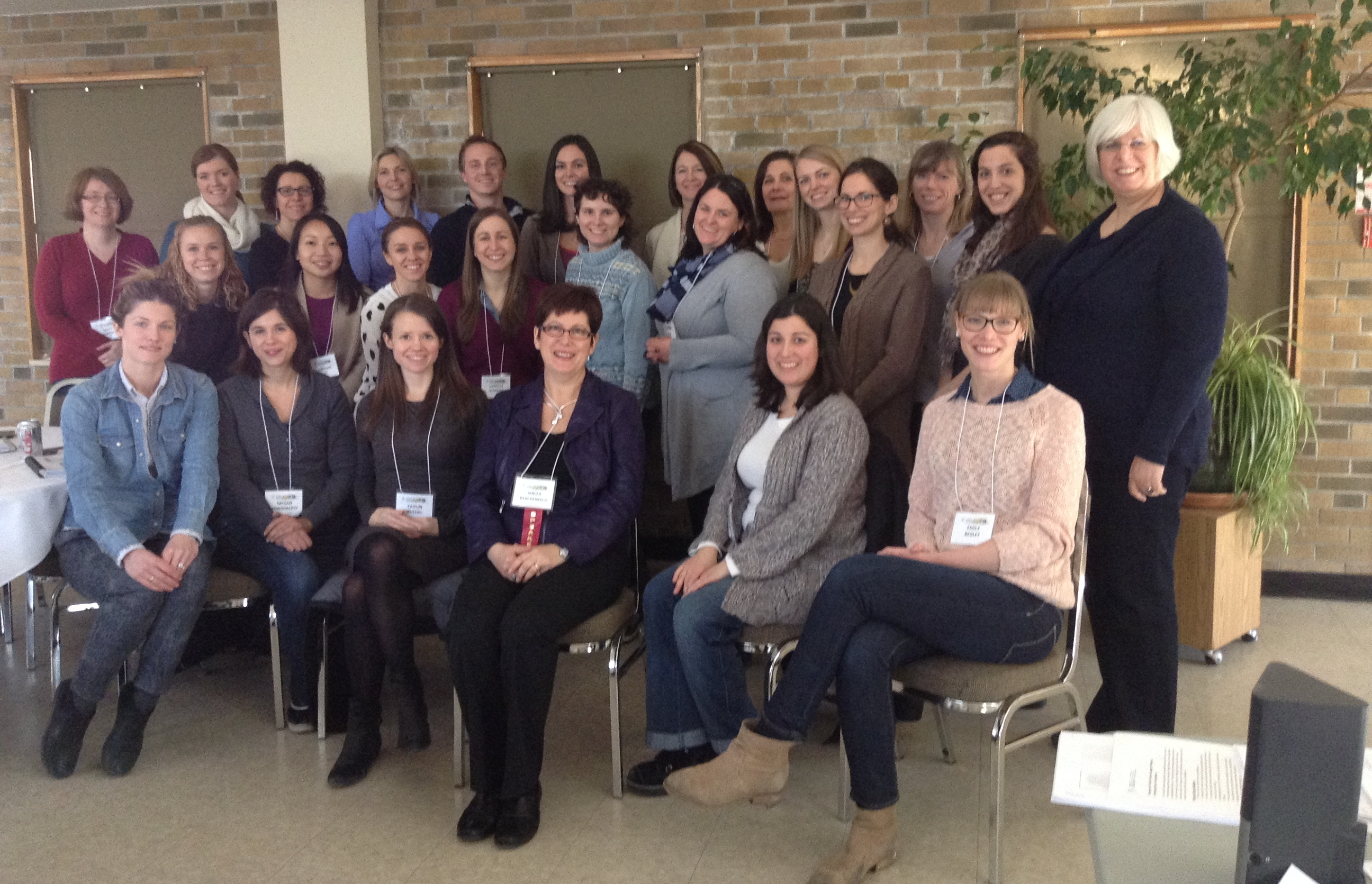 Sheila MacDonald with colleagues at a speech language pathology conference in Toronto, Ontario.